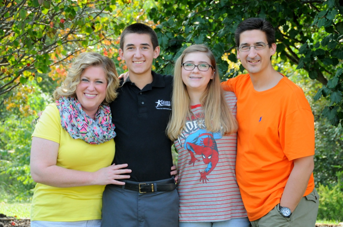 family at teen rehab parent weekend