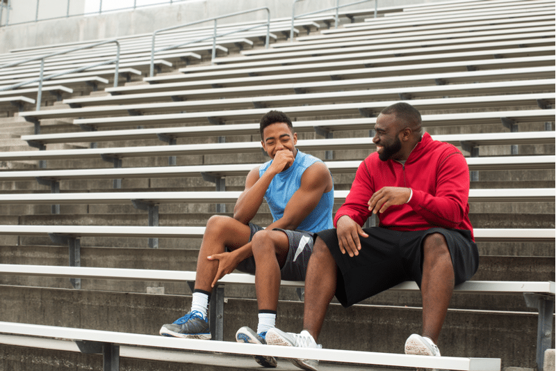 Coach giving a teen rehab through mentorship