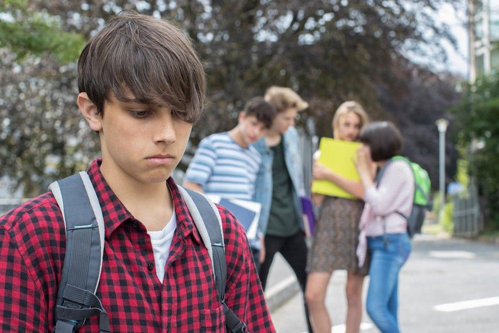Teen Resisting Peer Pressure